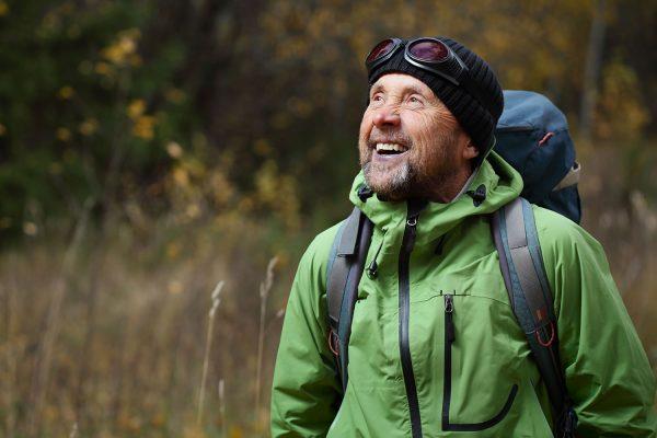 Smiling hiker